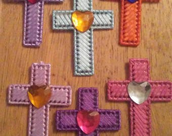 Cross Magnet with Heart