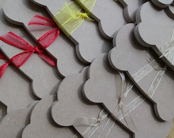 Kraft Card Embroidery Floss/Ribbon Holder