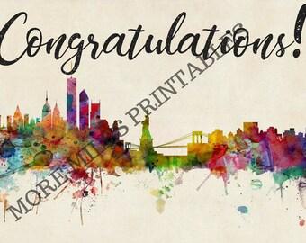 Congratulations Card for NYC Marathoner