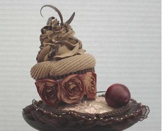 Chocolate Cupcake Headpiece Fascinator On Sale