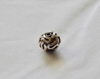 12mm Sterling Silver Bali Beads (1pcs)