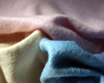 "Baby Blanket -Organic Cotton Fleece (Light Blue) -Small 31""x35"" Made in USA"