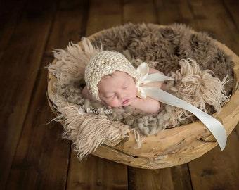 Baby Hat, Baby Photo Prop, Newborn Photo Prop, Knit Baby Bonnet, Newborn Baby Girl Hat, Baby Hat, Knit Baby Hat