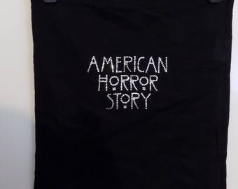 Handmade - American Horror Story logo tote bag, AHS