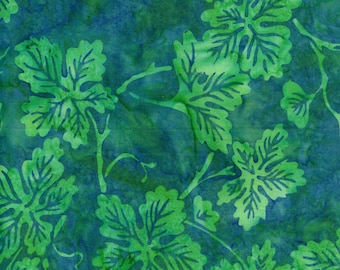 Hoffman Bali Batik TEA 5058 Coast All Over Leaves By The Yard
