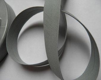 3m Biais coton replié – gris (col 623)