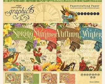 ON SALE Graphic 45 Seasons 8x8 Paper Pad