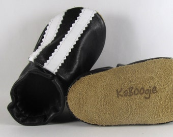Soft Sole, Striped, Rocker, Leather Baby Shoes, Moccs, 18 to 24 Month