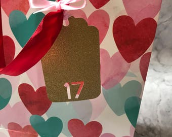 Glitter age Birthday Labels | Personilsed with Age