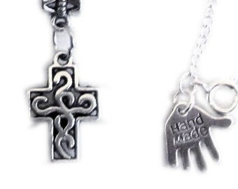 celtic, First Holy Communion Gift, Cross necklace, first communion, Faith necklace, Girls First Communion jewellery, silver necklace UK
