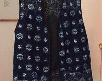 Detailed Shibori Handmade Vest