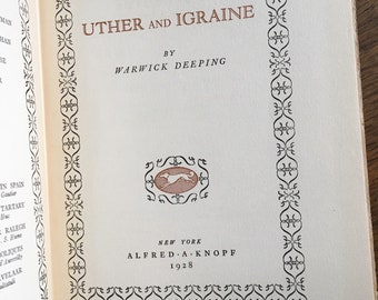 1928 Uther and Igraine by Warwick Deeping
