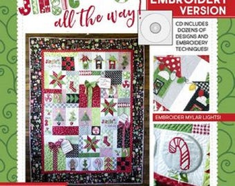 Jingle All the Way! The Machine Embroidery Version - Softcover Book - Designs with CD by KimberBell KD801