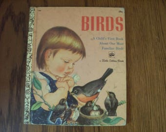 """Little Golden Book #184 """"Birds"""" by Jane Werner Watson 1971"""