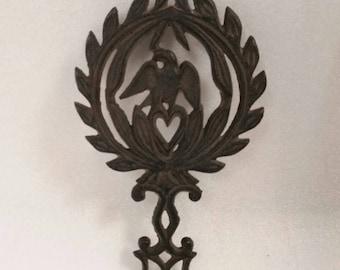 Vintage Cast Iron Eagle Trivet