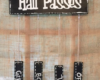 Classroom Hall Pass Holder