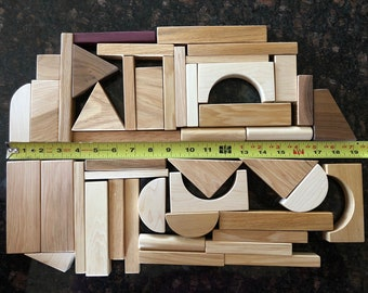 45 Piece Hardwood Building Blocks