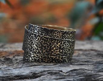 Cuff Bracelet, Brass Bracelet, Boho Bracelet, Statement Bracelet, Adjustable Bracelet, Layered Bracelet, Spiral Bracelet, Dotted Bracelet