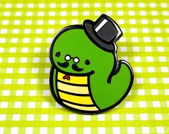 Gentleman snake enamel pin 3cm - reptile cute fancy lapel pin brooch badge flair collar pin hat pin nature animal