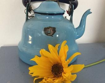 Small enamel tea pot