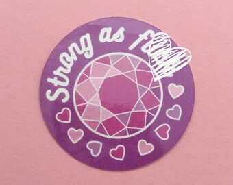 Strong As F**k Pink and Purple Vinyl Sticker