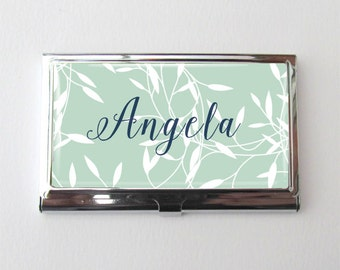 Business Card Case, Personalized Business Card Holder, Co Worker Gifts