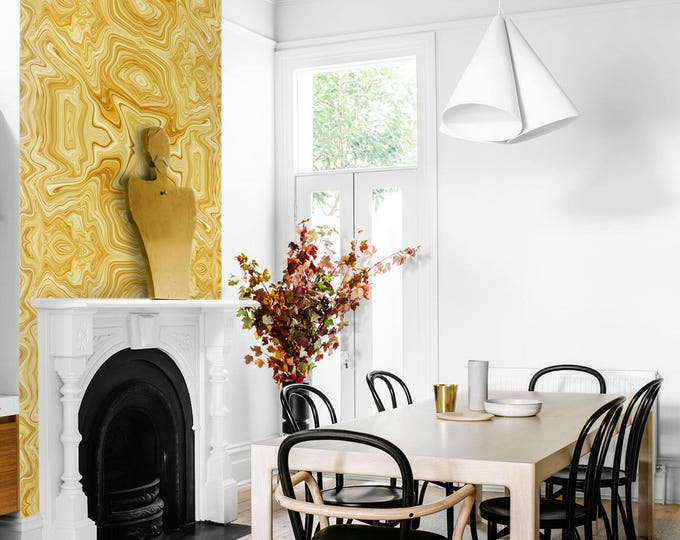 Gold wallpapers - Gold marble wall covering -  Marble Effect Wallpaper