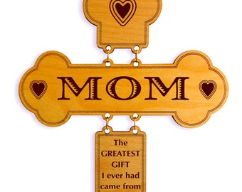 Unique Gift for Mom - Mother's day Gifts - Personalized Mothers day Mommy Gift - Mom Birthday Gift from Daughter or Son - Wall Cross