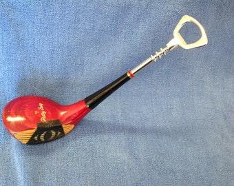 Patty Berg Wilson 5 wood  Golf club bottle opener w/premium CHROME OPENER