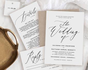 Editable Wedding Invitation Template, Printable Wedding Invitation, Wedding Invitation Printable, Wedding Invitation Download - KPC10_102