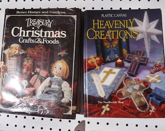 Vintage Craft and Food Books - Heavenly Creations - Treasury of Christmas Craft and Foods -  Lrm 549
