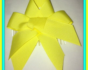 Yellow Hair Bow with tails