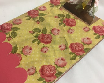 Sale Memo sized COTTAGE ROSES CLIPBOARD Pray