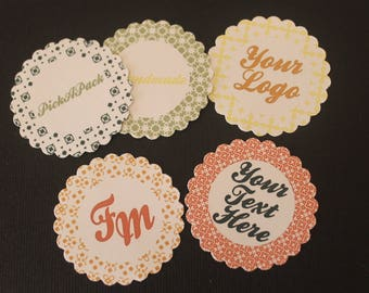 Stickers, adhesive seal, customizable stickers, stickers for favors, logo stickers.