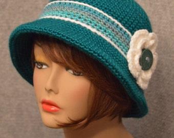 Womans Brim Hat in Teal
