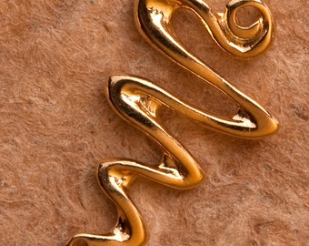 Gold Vermeil Handcrafted Small Serpentine Connector No. B52vm
