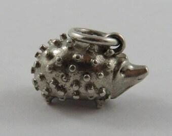 Hedgehog Sterling Silver Vintage Charm For Bracelet
