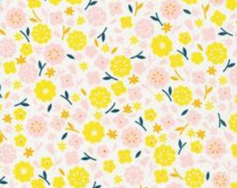 SALE!! 1/2 Yard  Stay Gold by Aneela Hoey for Cloud 9 Fabrics- 160600 Primrose Cotton