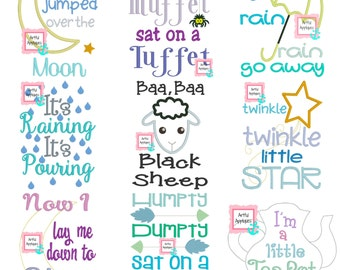 15 Nursery Rhyme Designs Set
