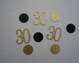 Glitter 30s and Dots Birthday Confetti | Custom Made | Birthday Party Confetti | 30th Birthday Party Decor