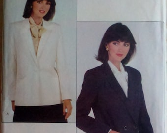 Vintage 1980s Sewing Pattern Womens Blazer Jacket Vogue 8083 UNCUT Size 8 Bust 31.5""
