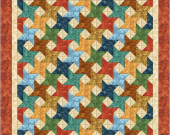 Quilt Pattern - Friendship Stars - lap size