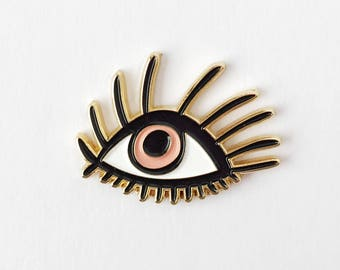 Pop Eyes Enamel Lapel Pin