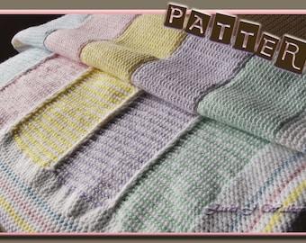 The Reversible Tunisian Stripe Baby Afghan Crochet PDF Pattern