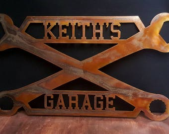 Man Cave Garage Gifts : Personalised sign etsy