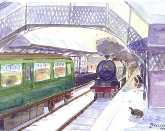 Newcastle and Carlisle Railway Christmas cards