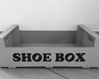 Shoe box - grey & Black - SHOE BOX