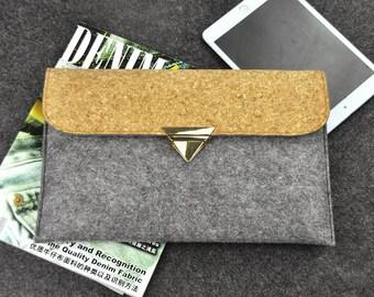 Customize tablet cover, Galaxy Tab Case, Felt Galaxy Case, Samsung tablet case, HP tablet case, Women Tablet sleeve, felt bags, B1D36