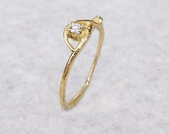 Nature engagement ring, engagement twig ring, engagement branch ring, engagement tree ring, nature promise ring, diamond ring, diamond twig