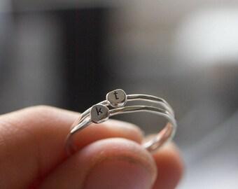 Erste kleine zierliche Stapeln Ring, Ring, stapelbar Ring aus Sterlingsilber
